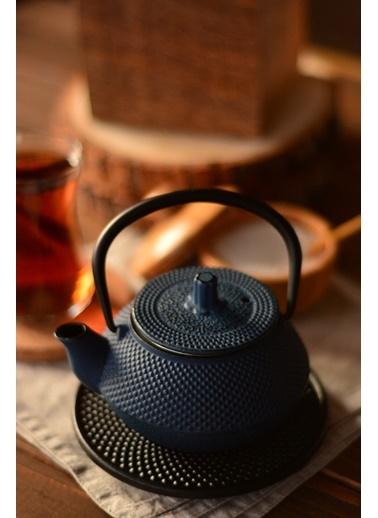 Taşev Linden - Sümbül 300 ml Gök Mavi Döküm Çaydanlık-Bambum